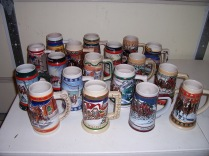 Budweiser Holiday Steins